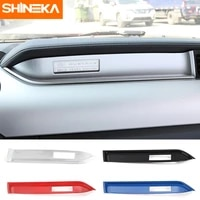 shineka car copilot dashboard cover trim strip fit center console decoration stickers interior mouldings for ford mustang 2015