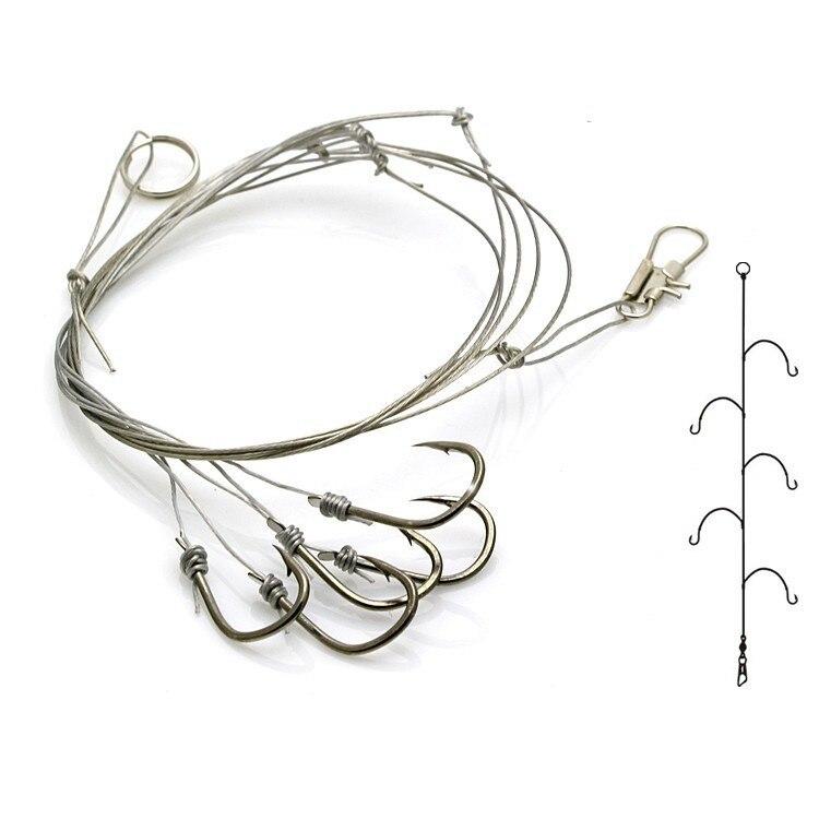 OLOEY 10 pçs/lote Sharphook com 5 pequenos ganchos de Aço Inoxidável gancho de pesca 9 # Pesqueiro Acessórios de psesca novo
