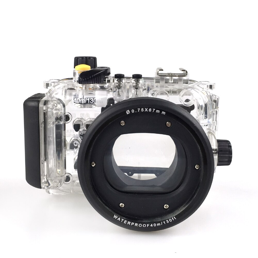 meikon wp dc44 waterproof underwater housing case 40m 130ftfor canon g1x camera 18mm lens with hand strap with o ring 40m Underwater Camera Waterproof Housing for Canon S95 Camera Transparent Case Scuba Diving Swimming Photography in Rainy Cover
