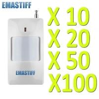 Systeme dalarme de securite domestique anti-cambriolage  haute qualite  10 20 100 pieces  avec detecteur infrarouge blanc  sans fil  GSM  433 MHZ  livraison gratuite