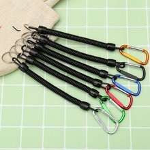 1 pièces pratique rétractable en plastique élastique corde anneau clé sécurité outils pour Camping en plein air Anti-perte téléphone printemps porte-clés