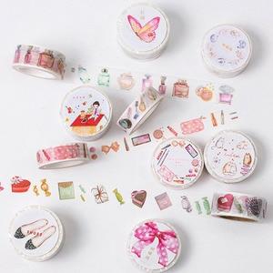 Lipstick Washi Tape High Heeled Shoes Perfume Masking Tape for Girl - Set of 11