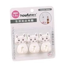 Crochet de réfrigérateur pour chat 3 pièces/lot   Crochet à suspension Super robuste, crochet de cuisine pour four à micro-ondes, crochet sans trace, crochets de salle de bains