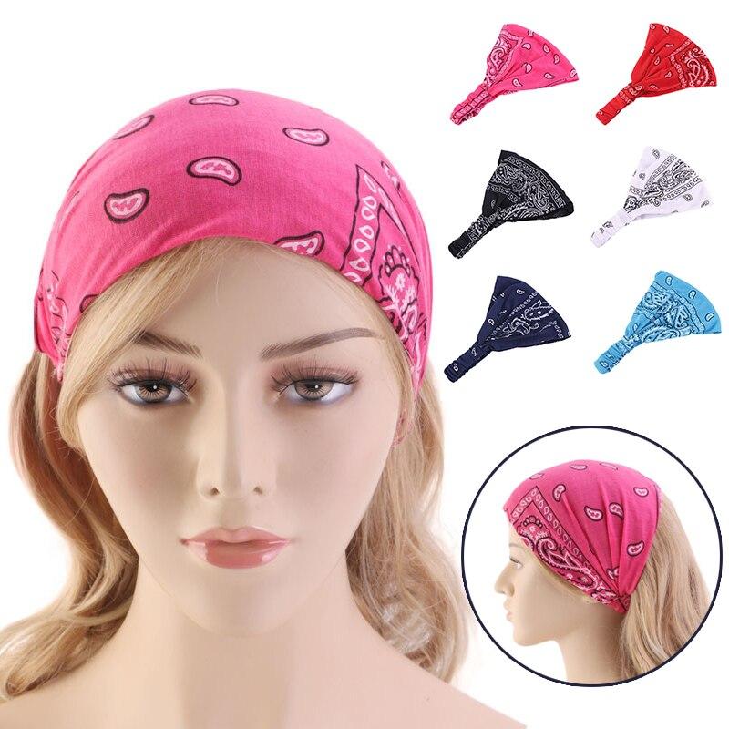 Algodão yoga bandana para as mulheres listrado artesanal atada faixas de cabelo meninas turbante feminino acessórios para o cabelo