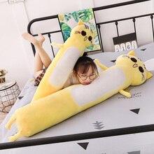 165cm jouets en peluche Animal chat mignon créatif longs doux jouets bureau pause déjeuner sieste sommeil oreiller coussin peluche cadeau poupée pour les enfants
