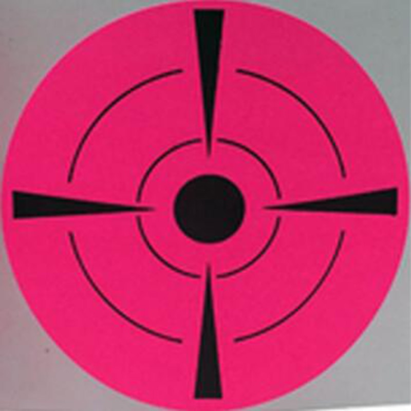 2019 New Trend Fluorescent pink Shooting Target Stickers (Qty 250 PCs 3