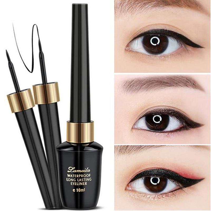 Marke Neue Schönheit Make-Up Kosmetische Schwarz langlebige Wasserdicht Eyeliner Flüssigkeit Eye Liner Pen Bleistift Make-Up Schönheit Werkzeug Set