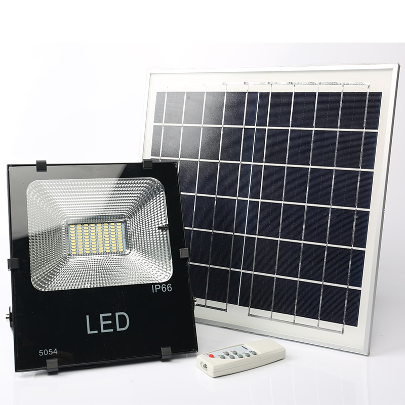 Foco de iluminación led para exteriores, lámpara solar de 20W, 30W, 50W,...