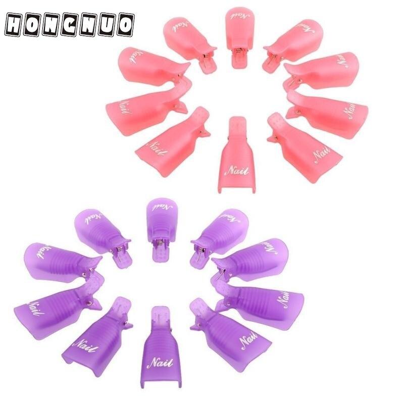 20 шт. пластиковый дизайн ногтей замачиваемый колпачок зажим средство для снятия УФ гель-лака инструмент для обертывания фиолетовый розовый...