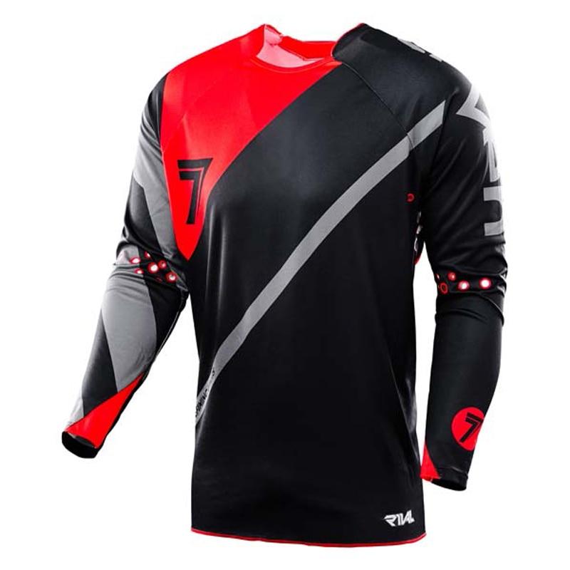 2018 Caliente Canadiense siete AM DH tomar motocross personalizado manga larga ciclismo downhill ciclismo desgaste maillot ciclismo