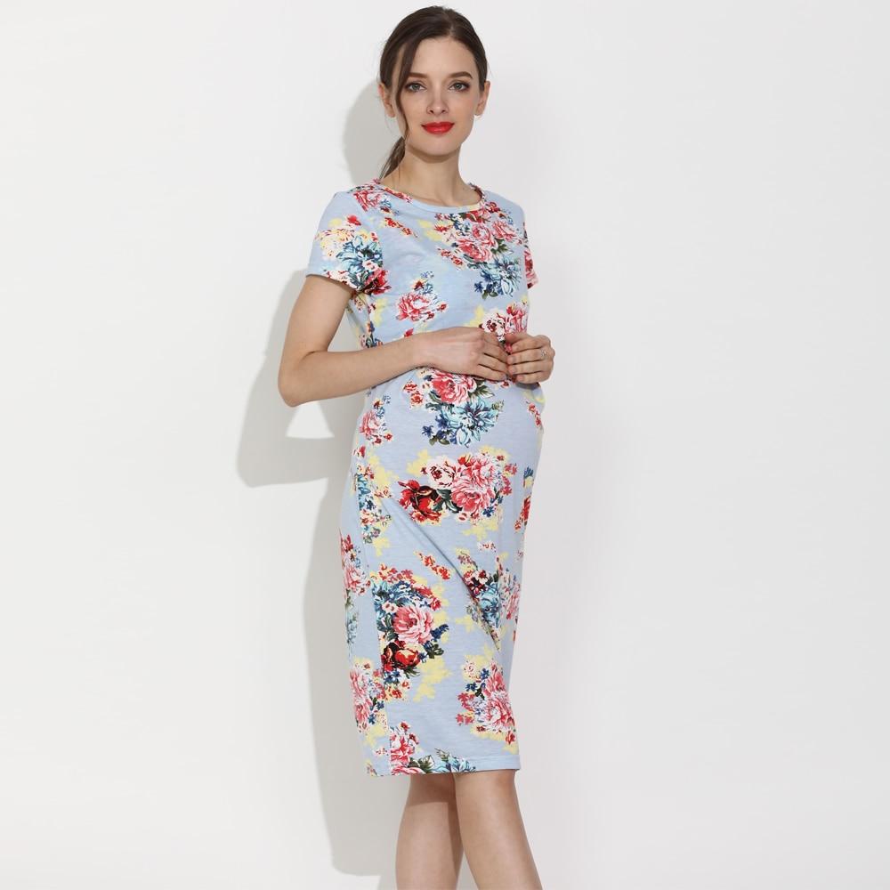 Emotion Moms Summer Casual Maternity Breastfeeding Dress Women Pregnancy Clothing Lactation Wear Drop Shipping enlarge