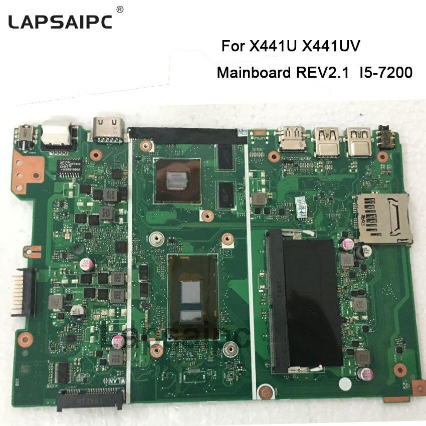 X441UV mini placa base X441UV I5-7200 REV. 2,1 60NB0C80-MB2301 placa base