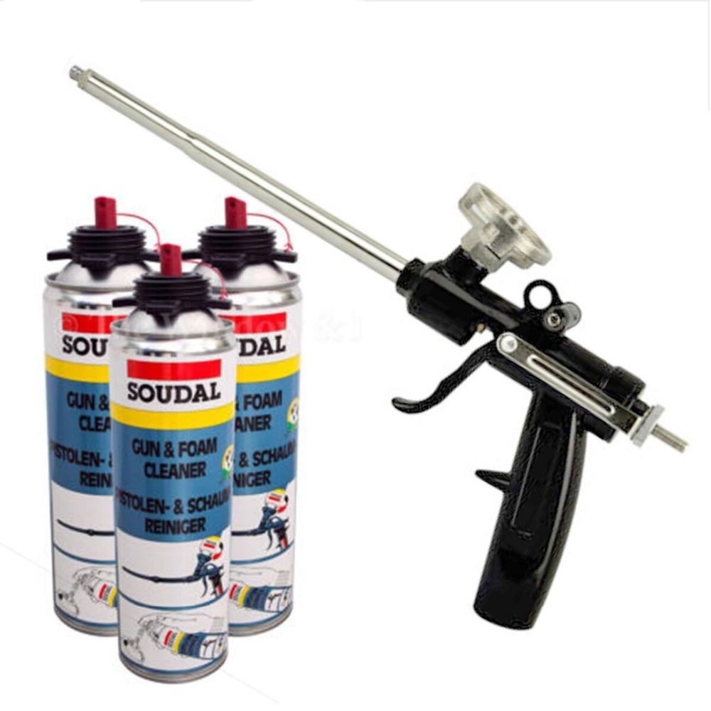 Newest 1PC Heavy Duty PU Foam Gun Expanding Spray Applicator New & Improved Adapter Basket Black