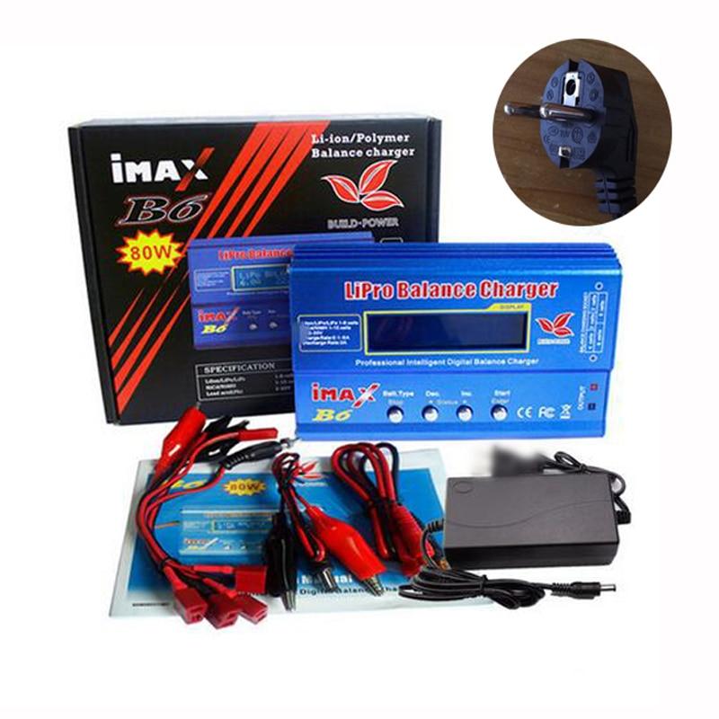 Встроенная Мощность IMAX B6 батарея Lipro зарядное устройство Lipro Цифровой баланс 12V 6A адаптер питания + зарядный кабель Быстрая зарядка с Т-образ...