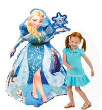 93*55cm Large Belle Elsa Aurora Cinderella Snow White Princess Foil Balloons Baby Birthday Party Decoration kids Helium Balloons
