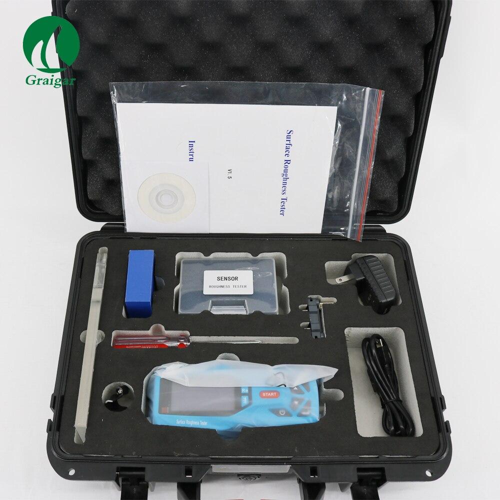 KR220 يده الرقمية أداة قياس خشونة الأسطح قياس 20 المعلمات KR-220