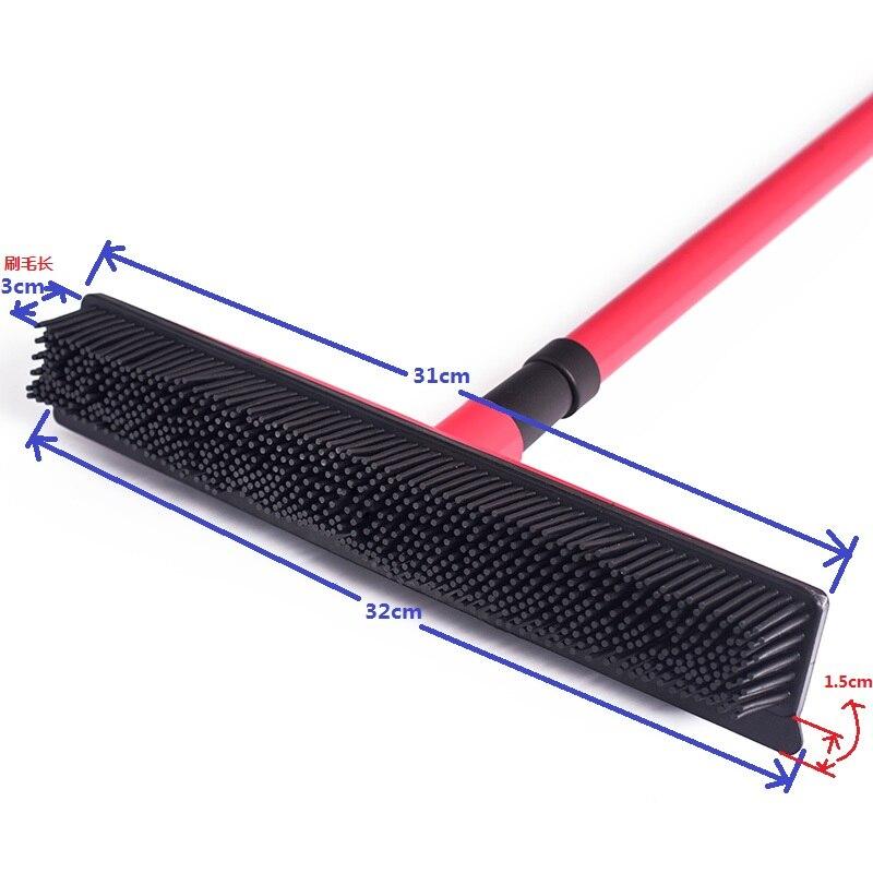 Telescópico multifuncional escoba mágica de besom limpiador cepillo para eliminar el pelo de mascotas casa piso polvo fregona y carpet sweeper
