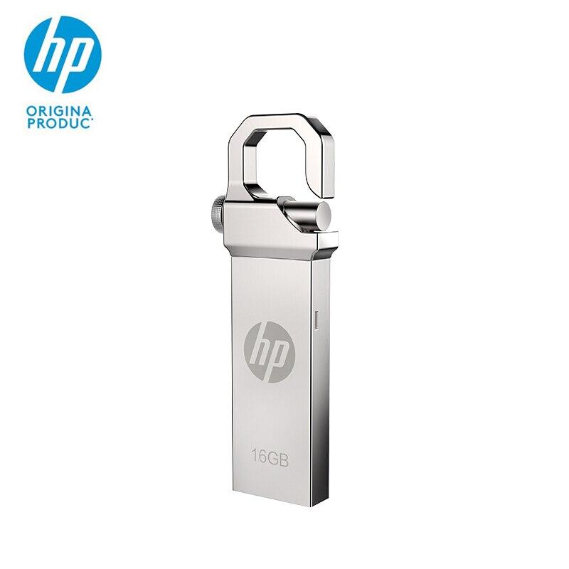 Unidad Flash HP, disco U, 32 GB, V250W, Unidad de pluma metálica, Mini memoria USB resistente al agua de 16 gb, unidad flash usb de 64 GB, logotipo personalizado, memoria USB para ordenador portátil