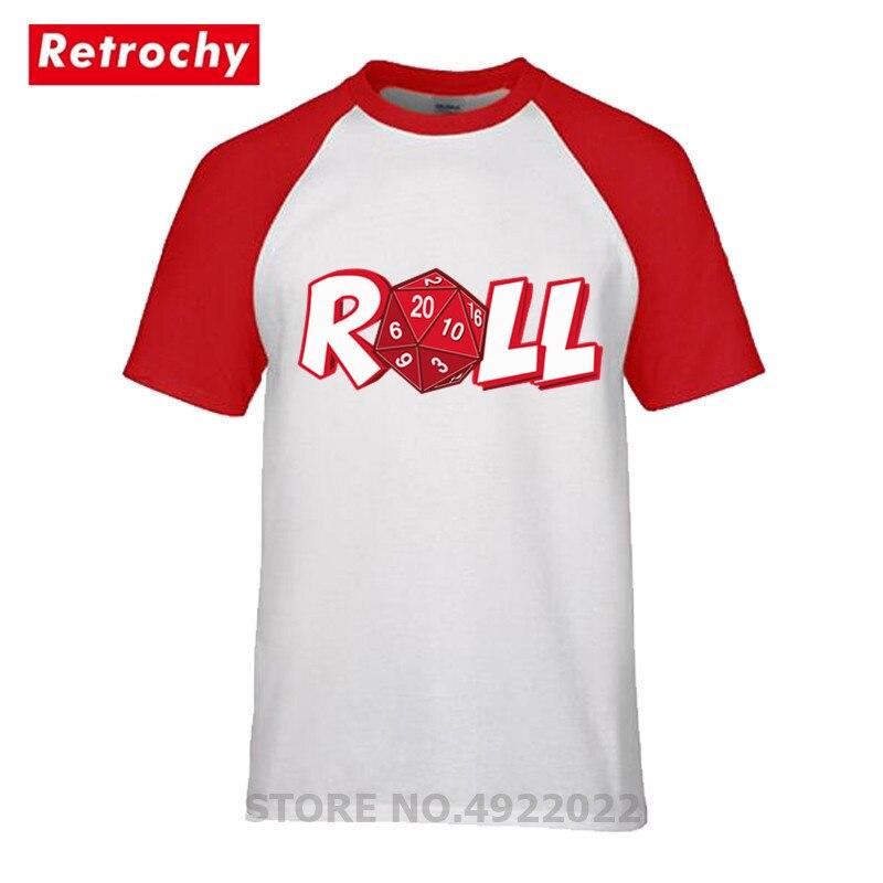 Camiseta para jugar con el rollo de videojuegos nostálgica, camiseta para hombre divertida Dnd Dragons D20 d & D, camiseta de máster, camiseta de juegos de dados