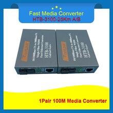 HTB-3 100 1 para Optische Fiber Media Converter Fiber Transceiver Single Fiber Converter 25 km SC 10/100 M single mode single Fiber