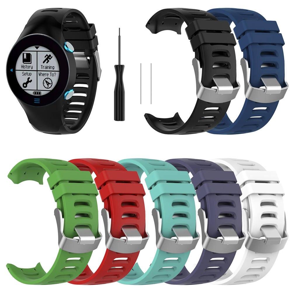 Pulsera de silicona, correa de muñeca para Garmin Forerunner 610, reloj inteligente, 7 colores de repuesto, accesorios de pulsera de reloj deportivo