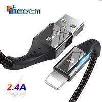 USB кабель TIEGEM для iPhone X, XS, MAX, XR, 8, 7, 6, 5, S Plus, длина: 0,3-3м, цвет в ассортименте.