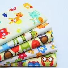 5 pièces 40*50cm jaune dessin animé imprimé coton tissu mètre bricolage à la main couture tissu Telas Para Patchwork Quilting Textiles