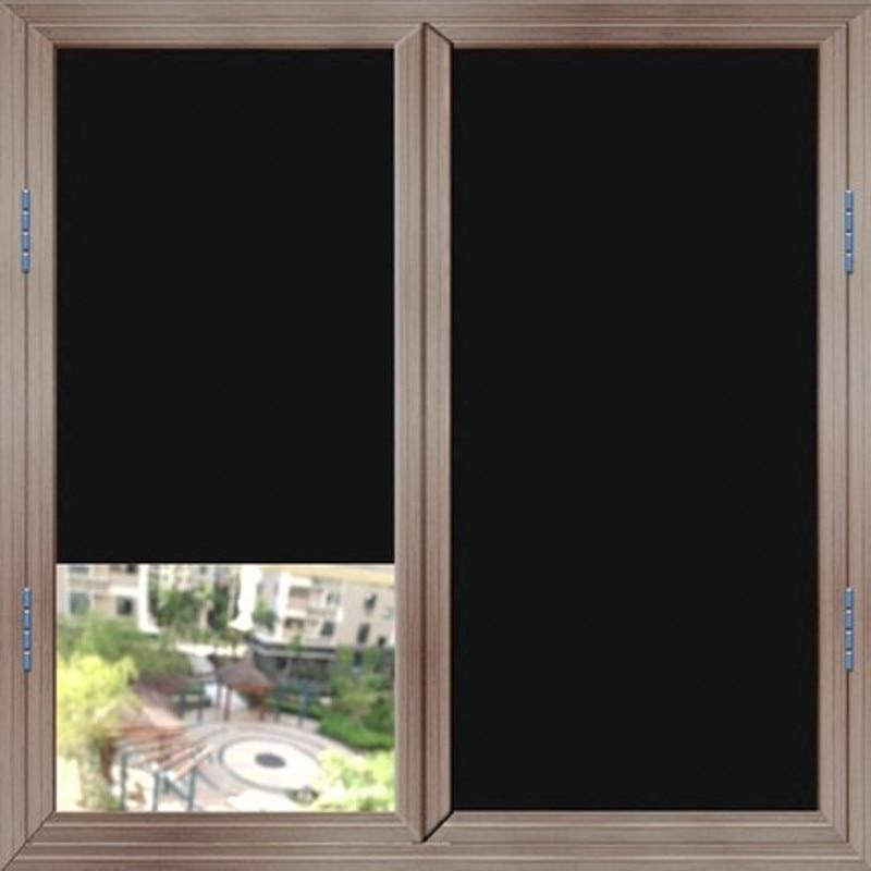 Tamaño personalizado transparente anti-UV estática negro película Color Ventana de privacidad No pegamento Drop-Envío película decorativa