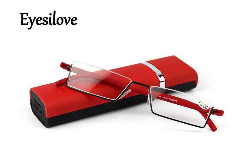Gafas de lectura ultra ligeras Eyesilove para mujer, gafas de lectura portátiles antifatiga TR90 de medio marco + 100 + 1,5 + 2,0 + 2,5 + 3,0 + 3,5