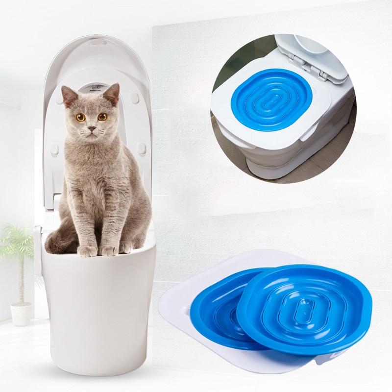40*40*3.5cm ABS Pet Toilet Trainer Puppy Cat Toilet Litter Trainer catsCeaningTrainingToilet Supplies with Toilet Seat Lighting