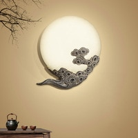 Chinese moon cloud wall light lamps hotel living room bedside bedroom modern lamp staircase restaurant aisle bracket light bra