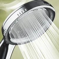 Pommeau de douche  accessoire de salle de bain  lot 1 piece  forte pression  ABS  economie deau  chrome