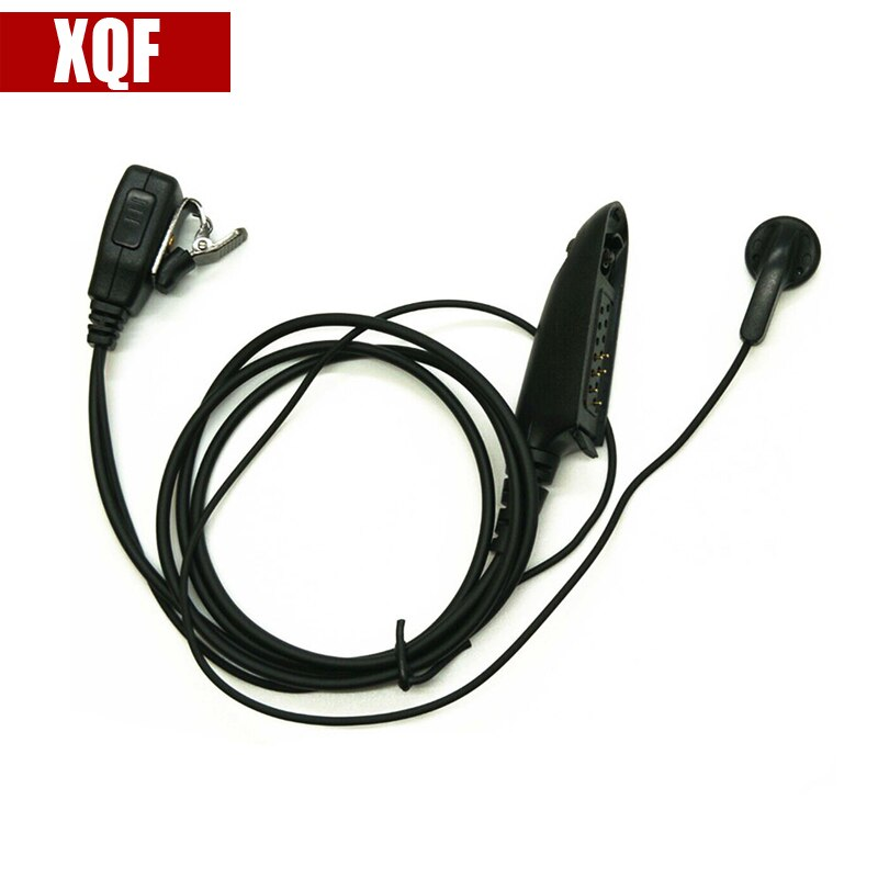 Xqf ptt microfone fone de ouvido para motorola rádio ht750 ht1250 gp328 gp329 gp338 gp339 mtx850 pro5150 pro5350 radioblack em dois sentidos