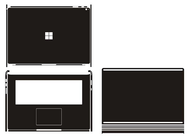 "Laptop Carbon fiber Vinyl Skin Sticker Cover For 2017 Microsoft Surface Book 2 15"" 2nd Gen"