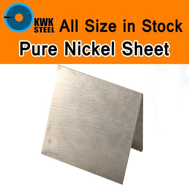 Reine Nickelblech Reinem Nickel Platte ASME Ni200 UNS N02200 W. Nr.2.4060 N6 Platte Galvanik Anoden Experiment DIY Material