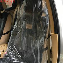 BJMYCYY-housse de siège souple jetable   En plastique, 100x pour bmw toyota chevrolet ford mazda kia