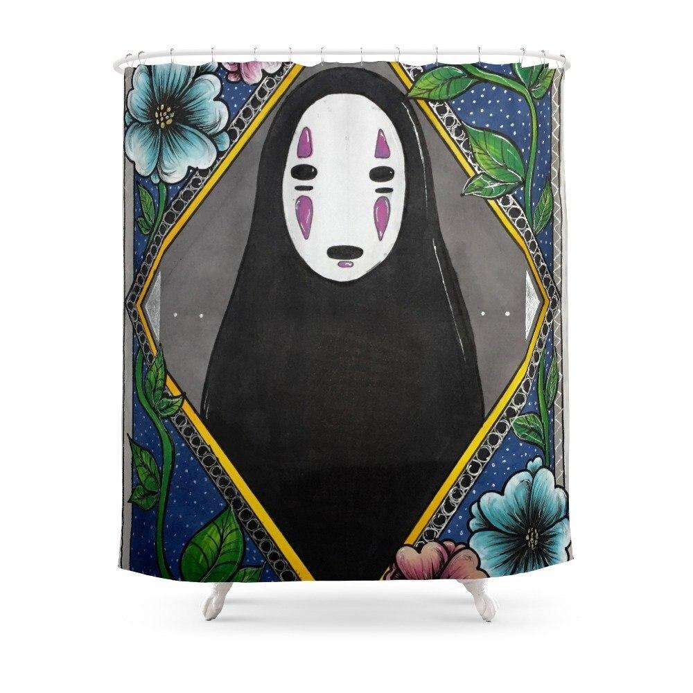 No Face Shower Curtain Japan Anime Shower Curtain Bathroom Cartoon