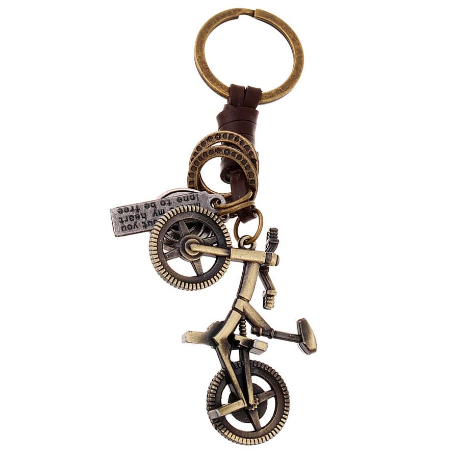 Бронзовая покрытая велосипедная сумка для ключей Брелоки Llaveros, Очаровательная велосипедная Автомобильная цепочка для ключей, держатель дл...