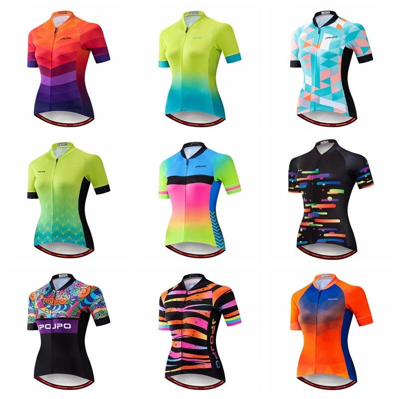JPOJPO verano Ciclismo Jersey mujeres 2019 Pro equipo bicicleta ropa Maillot Ciclismo secado rápido MTB Bike Jersey Top Ciclismo camisa