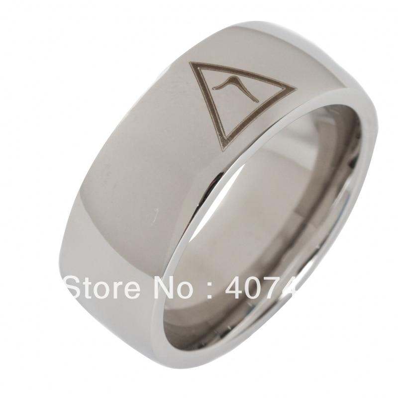Envío Gratis precio barato EE. UU. Canadá Reino Unido Rusia Brasil ventas calientes 8 MM Domo plata 14 masónico tungsteno tamaño del anillo de boda 6-13