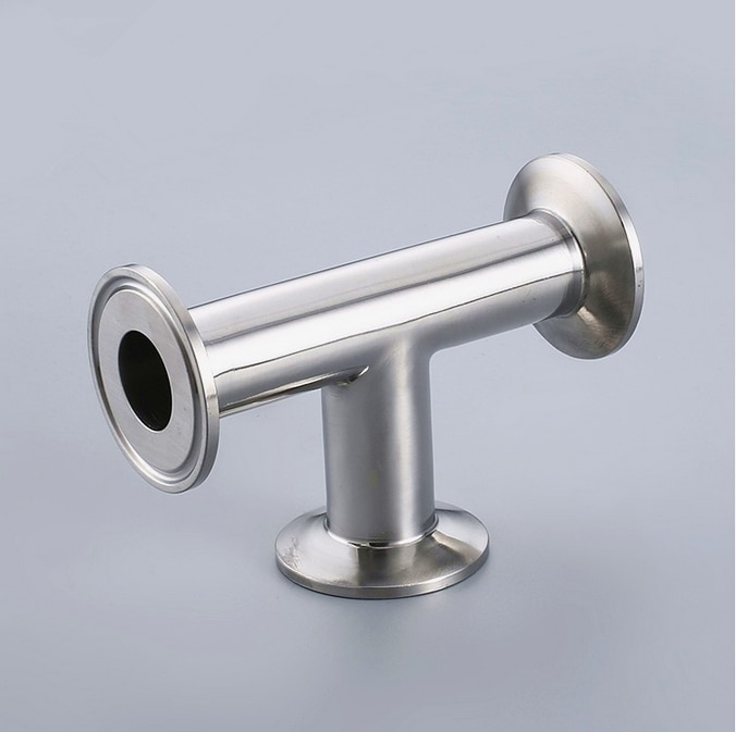Free shipping 19-108mm many size for choose Sanitary Tri Clamp 3 Way Tee, Stainless Steel 304
