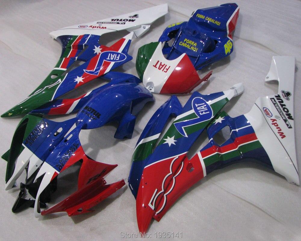 Kit de carenado multicolor para Yamaha YZFR6 2006 2007 YZF R6 YZF-R6 06 07, carenado de moda (moldeado por inyección)