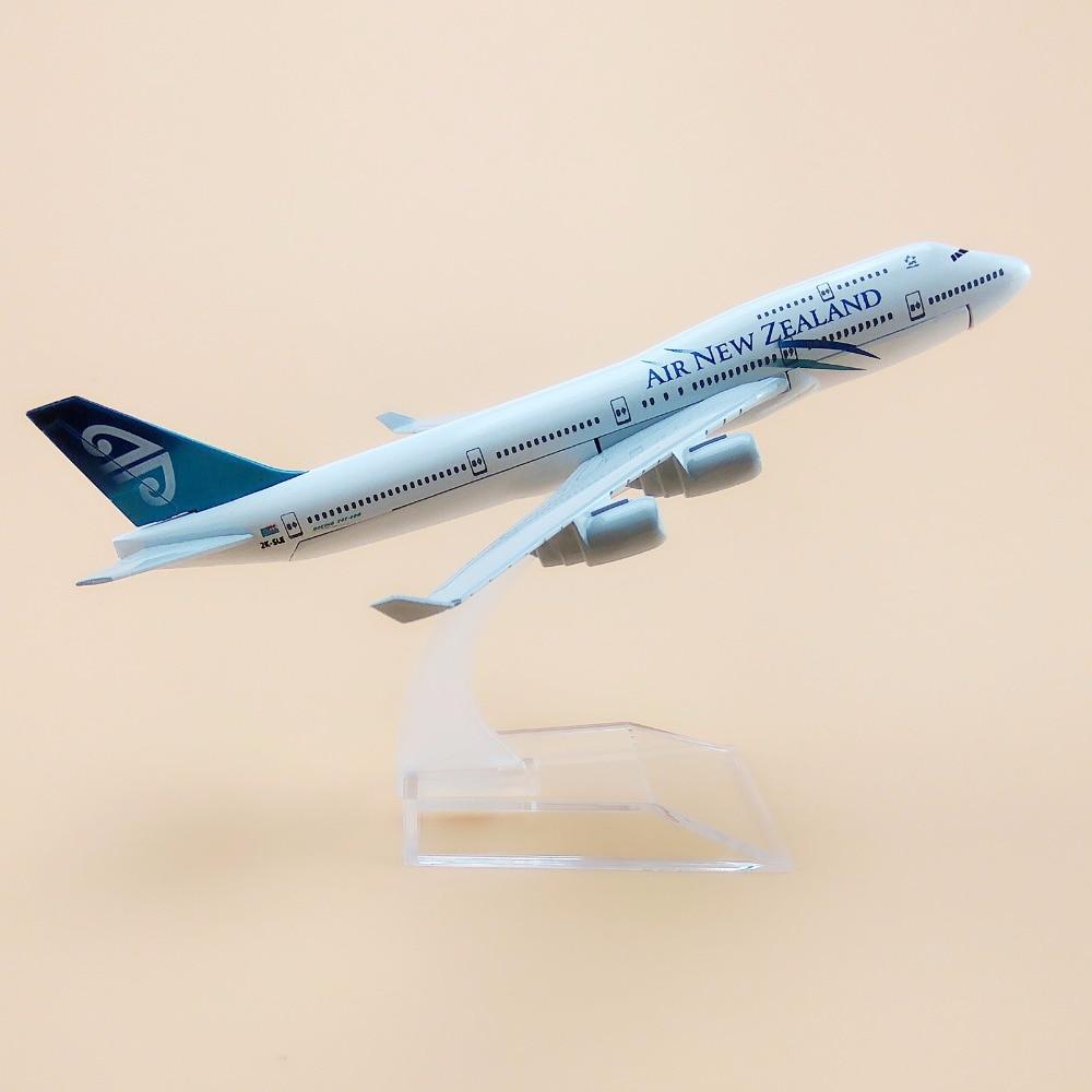 16 см сплав металлическая модель самолета Air Новая Зеландия B747 Airlines Aircraft Boeing 747 400 Airways модель самолета W Стенд подарок