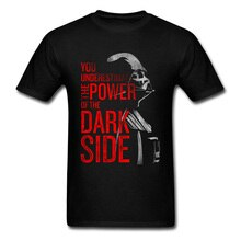 Star Wars T-Shirt Dark vador côté sombre film de puissance t-shirts pour hommes Star Wars Yoda dernier Jedi bataille T-Shirt Starwars imprimer 3D