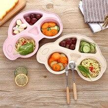 1PC Cartoon Car Baby Bowl Feeding Dinnerware Wheat Straw Tableware for Baby Kids Dishes ECO-friendly Children Plates -20