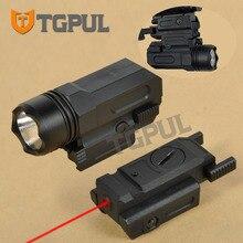 TGPUL Red Dot Laser Sight Tactical Airsoft Handgun Flashlight Combo LED Tactical Gun Torch for 20mm