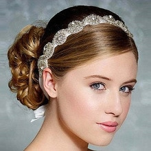 European Luxury Crystal Chaton Bride Hair Band Wedding Hair Headdress Headpieces