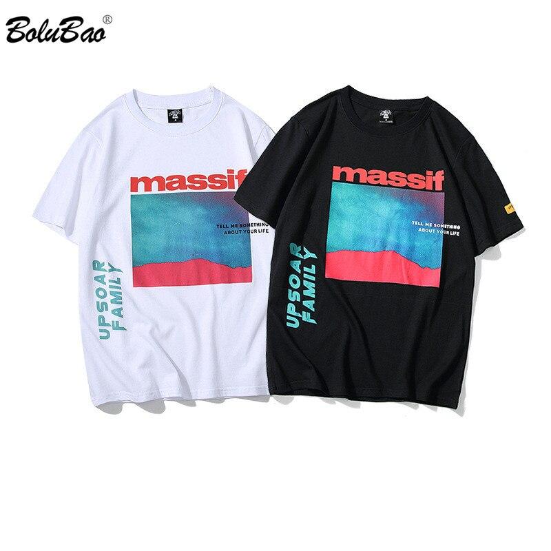 BOLUBAO, camisetas a la moda para hombre, camiseta de manga corta con estampado de tendencia de verano para hombre, camiseta con personalidad, camiseta de alta calidad