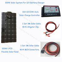 100w semi-flexible solar power system