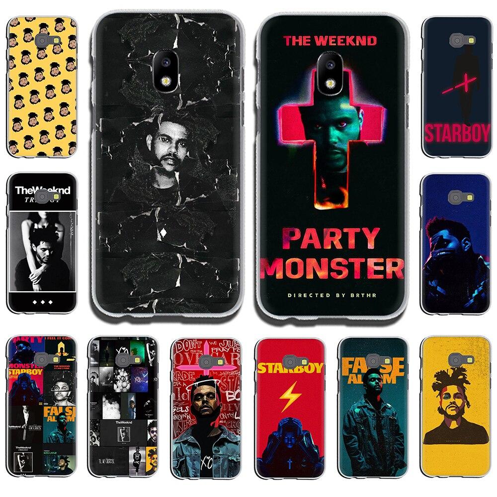 Funda rígida para Samsung Galaxy J6, J5, J1, J2, J3, J7, 2017, 2016, 2015, Prime J7, versión de la UE The Weeknd Singer